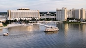 Bird's-eye view of Disney's Contemporary Resort and Bay Lake Tower