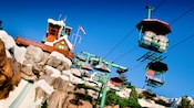 The top of Summit Plummet and the Chairlift at Disney's Blizzard Beach water park