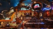 Upper-level dining area at Planet Hollywood at Downtown Disney West Side
