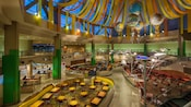 View of the bustling dining area from the 2nd floor of Sunshine Seasons