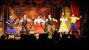 Pioneer Players from Hoop-Dee-Doo Musical Revue performing on stage.