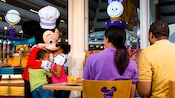 Mickey Mouse-themed dining room