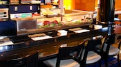 Sushi bar with plenty of seats at the bar
