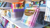 Crayon sticks, vibrant markers, sketchbooks and much more on display at Kate & Leo at Disney Springs
