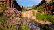 View of waterfall at Disney's Wilderness Lodge