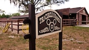 Wooden sign for the Tri-Circle-D Ranch