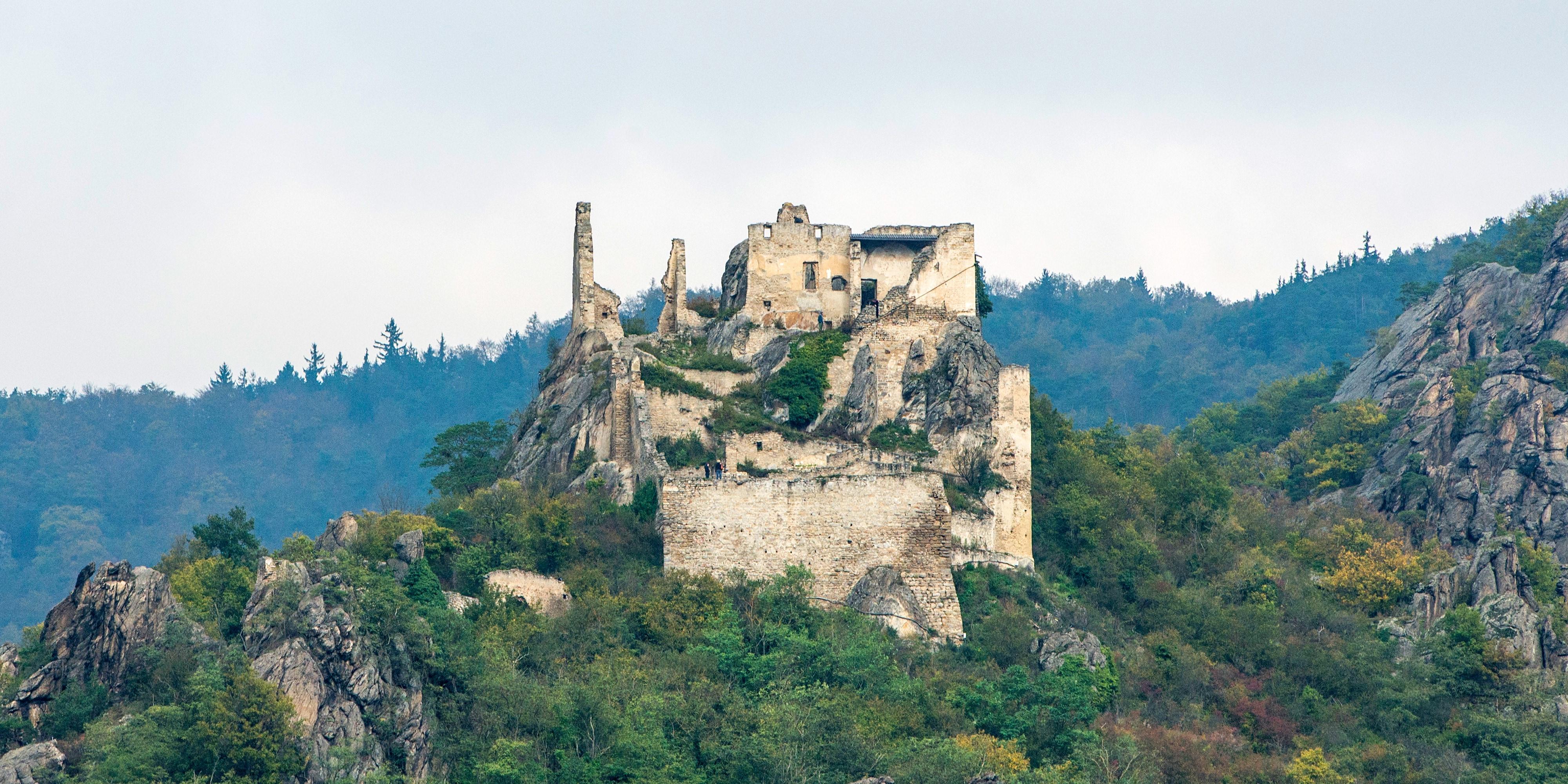 Historic ruins atop a mountaintop