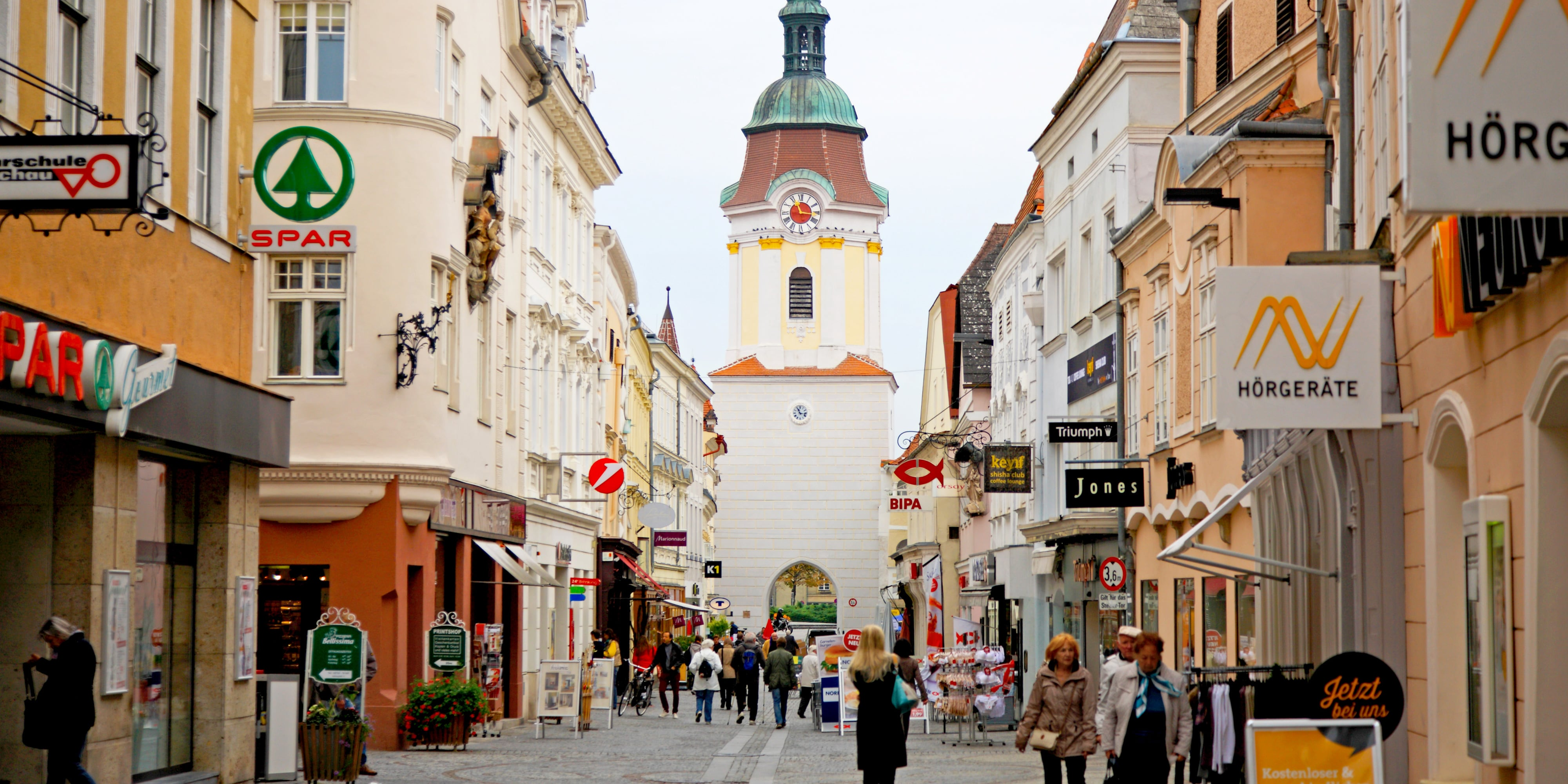 The historic streets of Krems