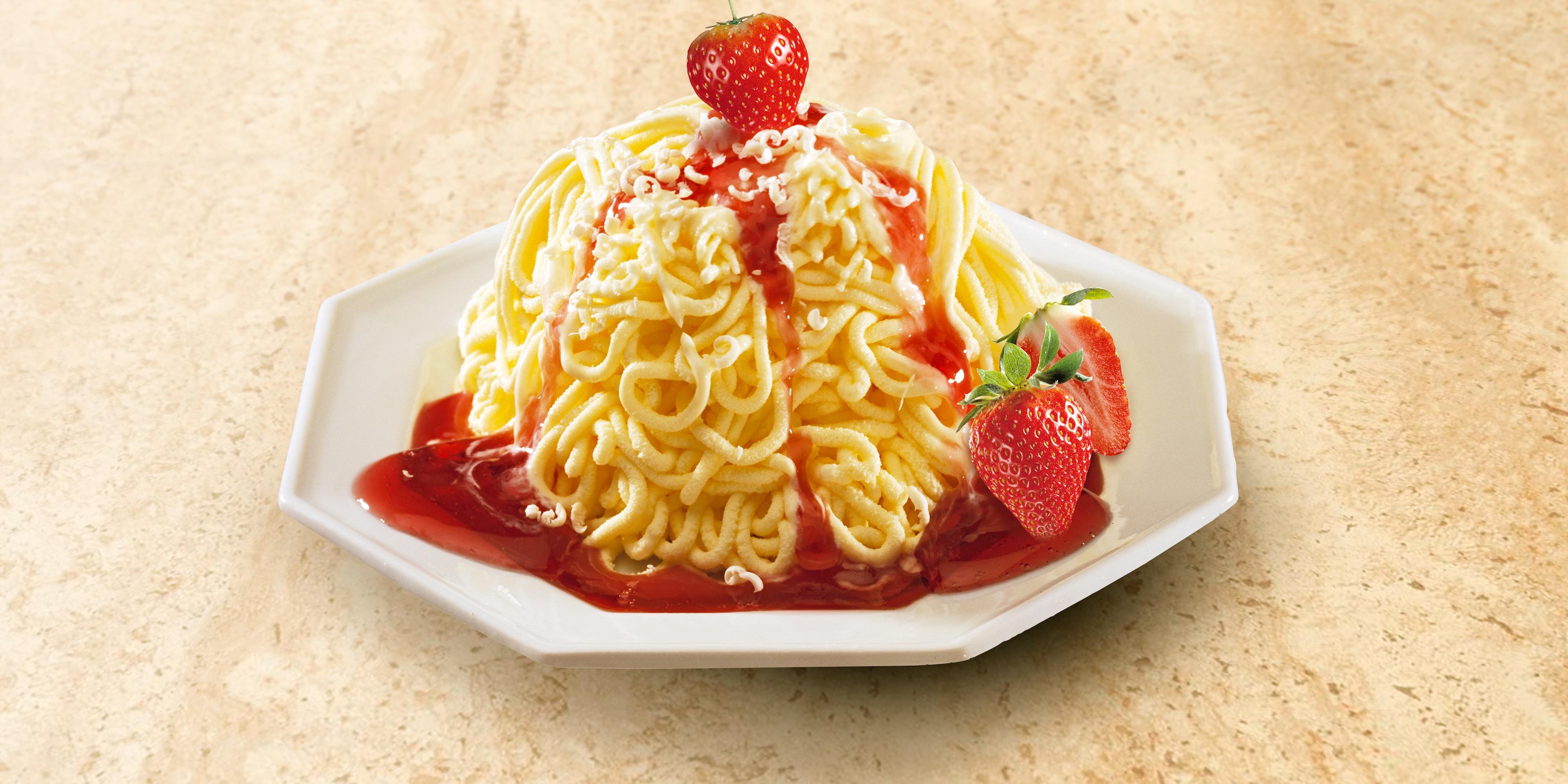 'Spaghetti' ice cream dessert