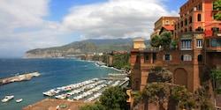 The Disney Magic drops anchor off the Italian coast