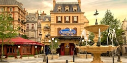 Ratatouille: A Recipe for Adventure plays in a Toon Studio theatre at Walt Disney Studios Park
