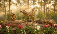 The classic trio of Bambi, Thumper and Flower recently joined our Golden Oak sculpture series, Disney friends in nature.