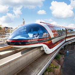 Front of the Disneyland Resort monorail