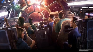 Art conceptuel de l'attraction Star Wars Millennium Falcon