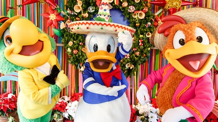 Donald Duck, José Carioca and Panchito as The Three Caballeros