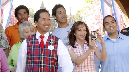 A Disneyland Tour Guide leads a tour group