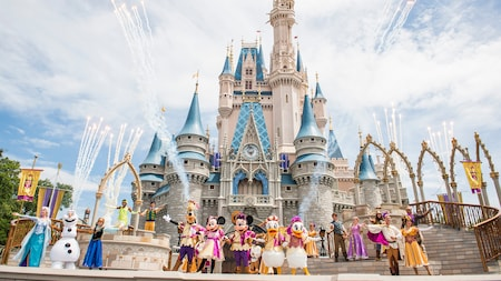 Mickey's Royal Friendship Faire with Disney Characters and Disney Princesses at Cinderella Castle