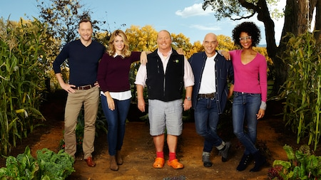 The 5 member crew of the ABC cooking show The Chew