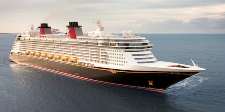A Disney cruise ship