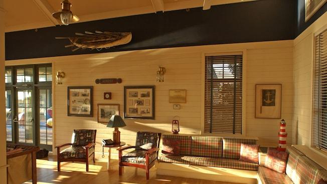 Nautical Themed Lounge Area Of Disneyu0027s Beach House With Sofa And Chairs. Hilton  Head ...