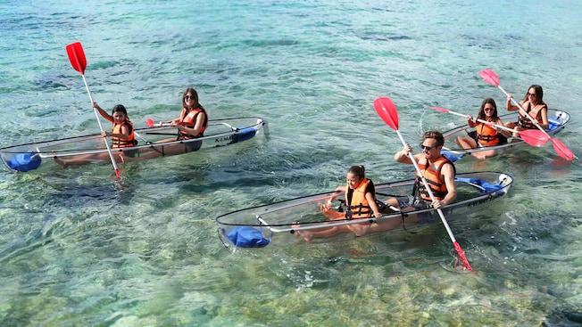 See Through Kayak And Beach Adventure Disney Cruise Line
