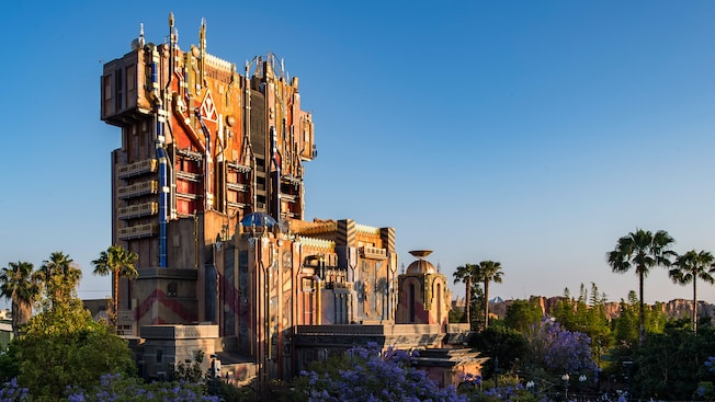 Guardians of the Galaxy - Mission Breakout tower at Disney California Adventure