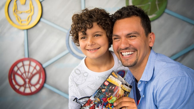 Father and son, Summer of Heroes, Hero Action Center, Disney California Adventure
