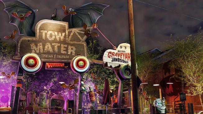 california adventure halloween Tow Mater's Graveyard JamBOOree