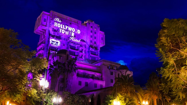 The Hollywood Tower of Terror Hotel in Disney California Adventure Park