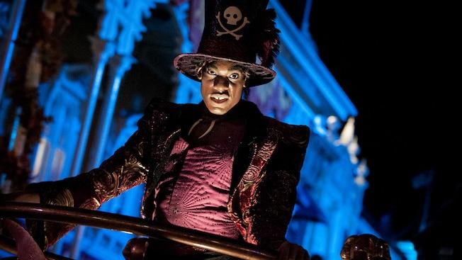 Dr Facilier at the Frightfully Fun Parade at Mickey's Halloween Party