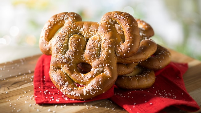 A Mickey shaped pretzel