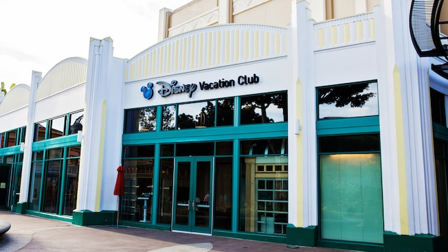 The Disney Vacation Club storefront located at the Downtown Disney District at the Disneyland Resort