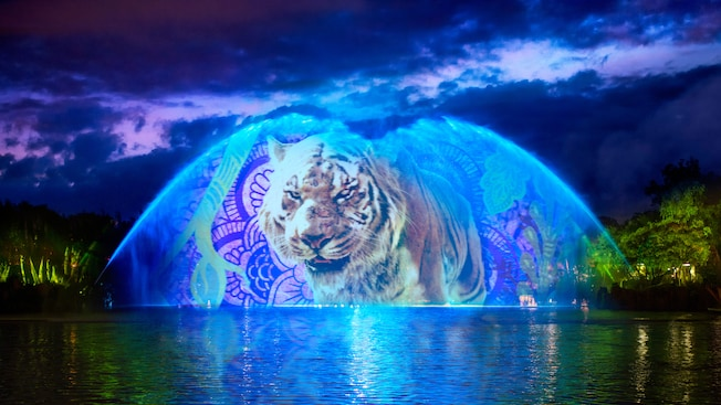 Special effects bring Shere Khan to life during a performance of 'The Jungle Book': Alive with Magic
