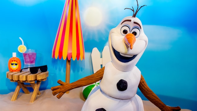 Image result for olaf meet and greet disney world