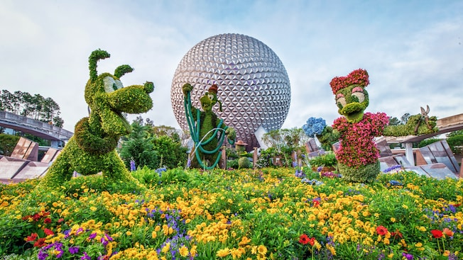 Topiaries Gardens Exhibits at Epcot Flower Garden Festival