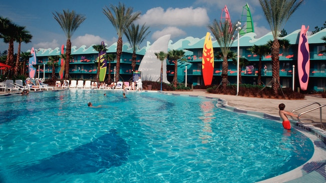 Pools at disney 39 s all star sports resort walt disney for Sport pools pictures