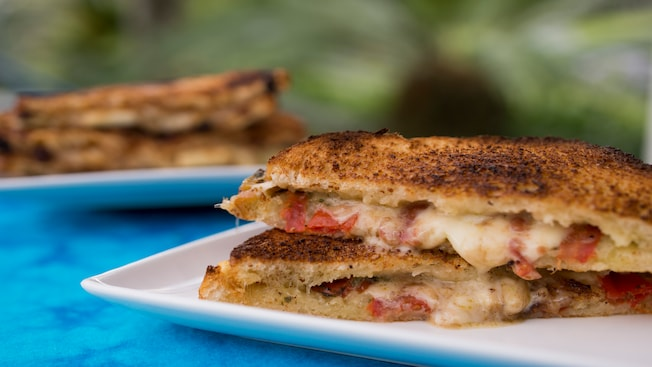 Fontina and tomato basil grilled cheese sandwich from Taste Track at Epcot
