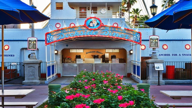 Front of Min and Bill's Dockside Diner at Disney's Hollywood Studios