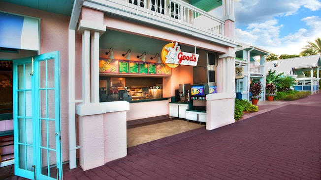 El mostrador principal de Good's Food To Go