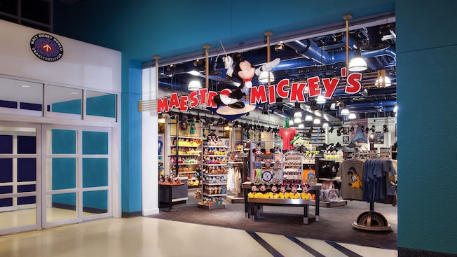 Entrance of the Maestro Mickey's gift shop at Disney's All-Star Music Resort