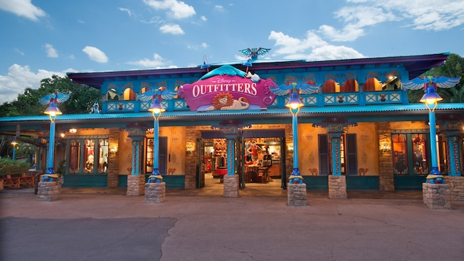 Disney Outfitters storefront on Discovery Island at Disney's Animal Kingdom park