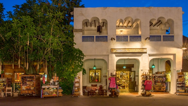 Exterior of Mombasa Marketplace for African-inspired items at Disney's Animal Kingdom park