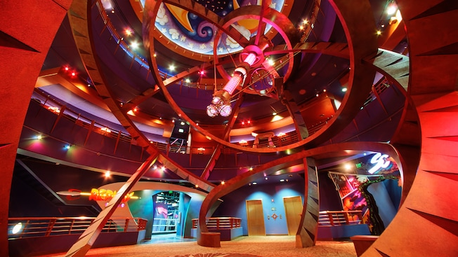 The lobby of DisneyQuest Indoor Interactive theme park