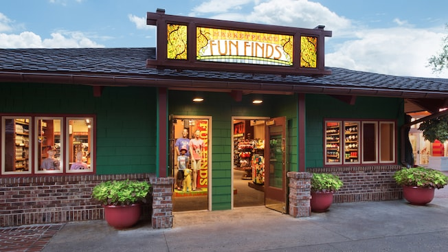 Exterior of the Fun Finds shop at Downtown Disney Marketplace
