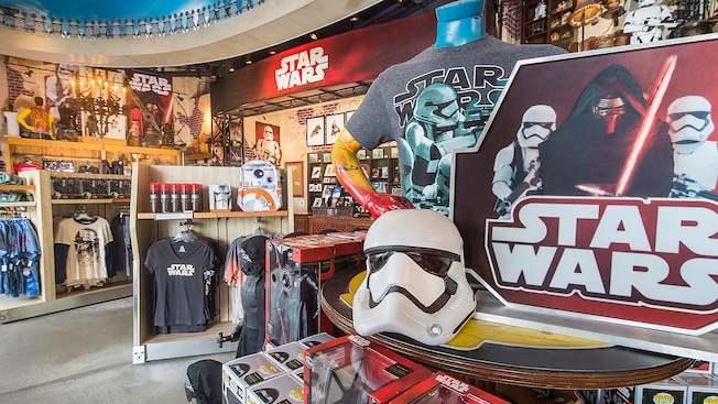 An assortment of toys, apparel, collectibles and other 'Star Wars: The Force Awakens' merchandise