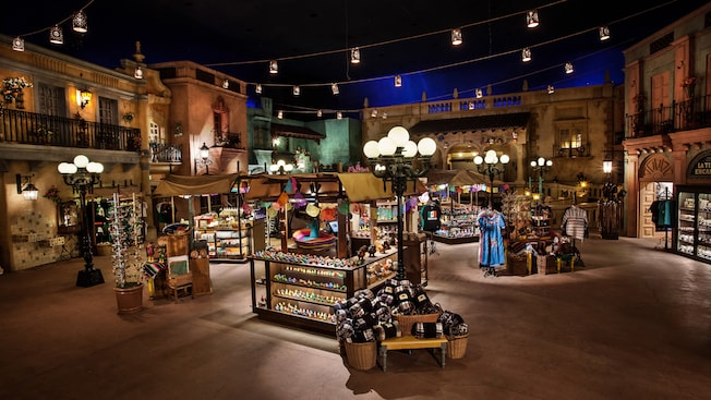 O mercado Plaza de los Amigos dentro do Pavilhão do México no Epcot