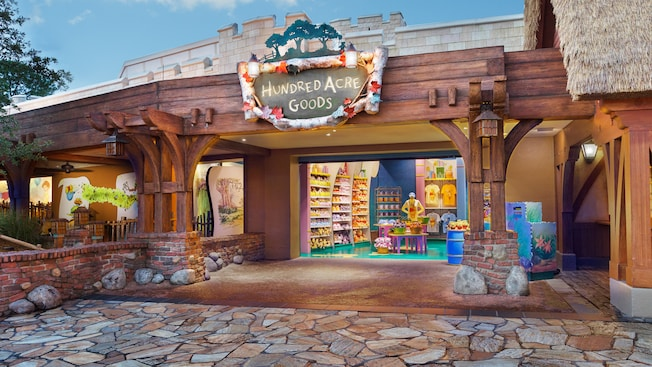 Fachada da Hundred Acre Goods na Fantasyland no Magic Kingdom Park