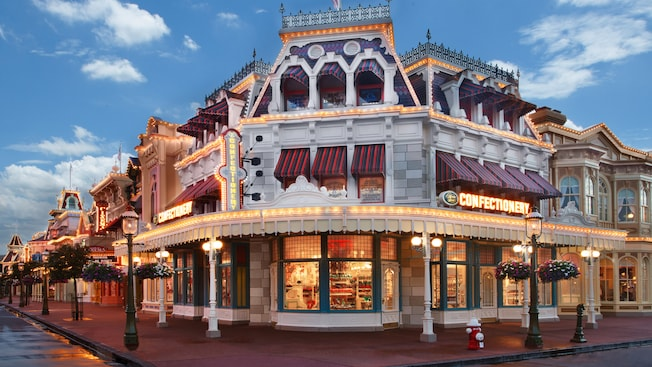The Main Street Confectionery na Main Street, U.S.A no Magic Kingdom Park