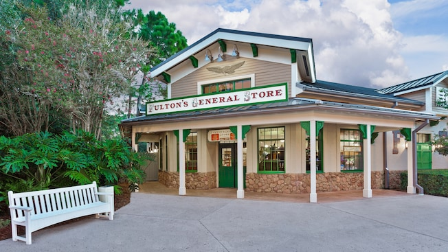 Fachada da Fulton's General Store, no Disney's Port Orleans Resort – Riverside