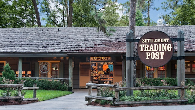 O exterior do Settlement Trading Post no Disney's Fort Wilderness Resort & Campground